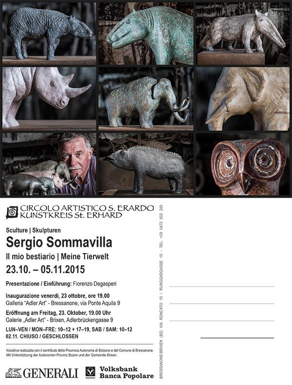 Einladung zur Ausstellung Goldener Alder Brixen Sergio Sommavilla